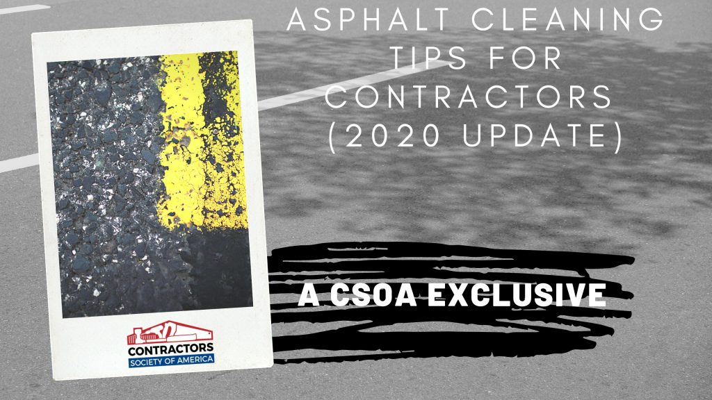 Asphalt Cleaning Tips for Contractors (Blog Cover)