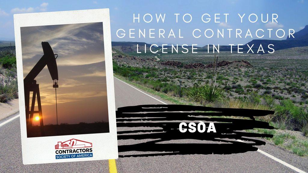 General Contractor License Texas